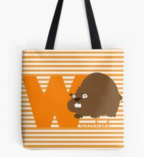 w for wombat Tote Bag