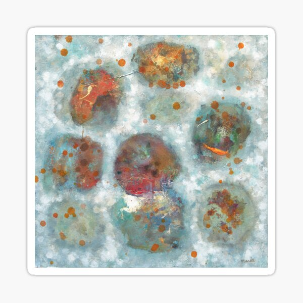 Abstract Acrylic Painting Sticker