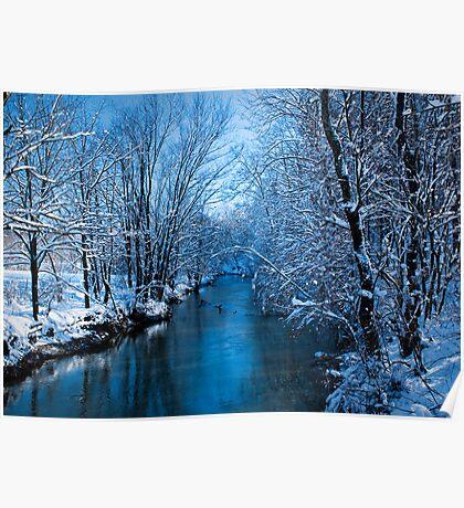 Winter on Simpson Creek Poster
