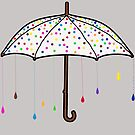 Colorful Rain Umbrella by DesignsByDebQ