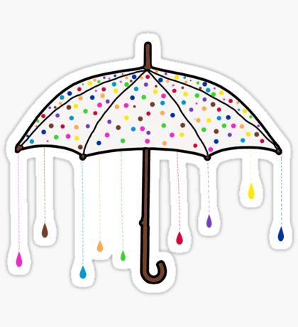 Colorful Rain Umbrella Sticker