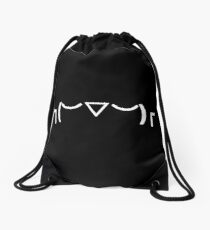 Kaomoji : INDIFFERENT Shrug : YWZWGBS 13 Drawstring Bag