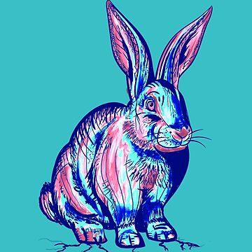Bunny Hugs Blue by miniverdesigns