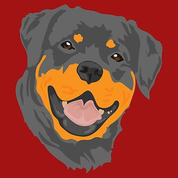 Favorite Dog Rottweiler Portrait Happy - Gift Idea by vicoli-shirts