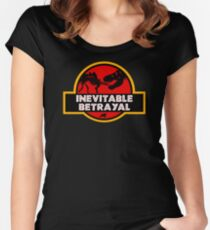 Jurassic Betrayal Women's Fitted Scoop T-Shirt