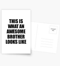 Brother Funny Gift Idea This Is What an Awesome Brother Looks Like Postkarten