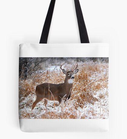 A Regal Stance - White-tailed deer Buck Tote Bag