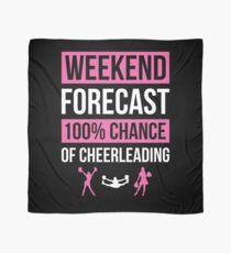 Weekend Forecast Funny Cheerleading T-Shirt Cheerleader Gift Scarf