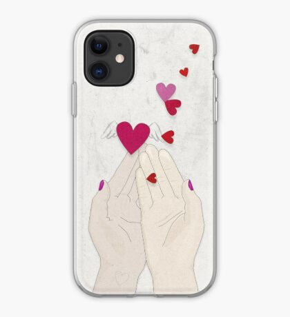 Fluttering Hearts iPhone Case