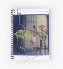 Flowers still life Mixed media Photography drawing painting outsider art  Spiral Notebook
