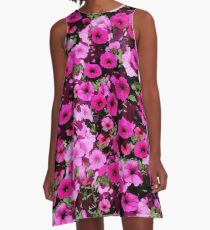 pink and red Petunia flowers A-Line Dress