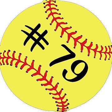 Softball Player Jersey No 79 Back Number #79 Ball Sport Sticker Gift by theshirtinator