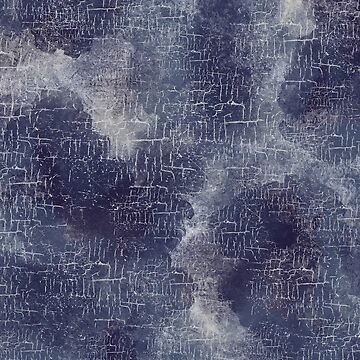 Grunge Abstract Art in Stormy Navy Blue and Slate Gray by MelFischer