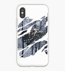 Stark house sigil winter ripped iPhone Case