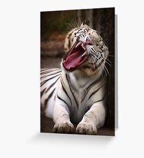 The Big Yawn Greeting Card