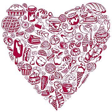 yum yum_ heart with pastry_pink by lisenok