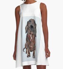 Dachshund Dog Max A-Line Dress