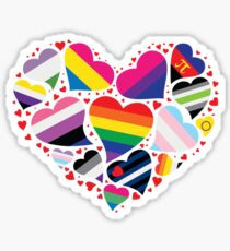 LGBT Pride Heart  Sticker