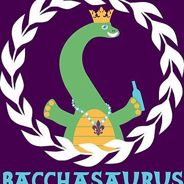 New Orleans NOLA Mardi Gras Dinosaur Party Animal by machmigo