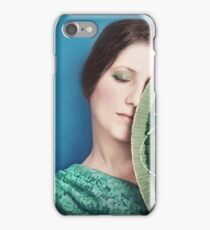 Girl with the painted fan iPhone Case/Skin