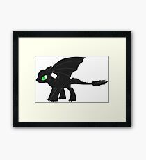 MLP Toothless Framed Print