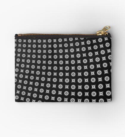 Monochrome Pattern 004 Zipper Pouch