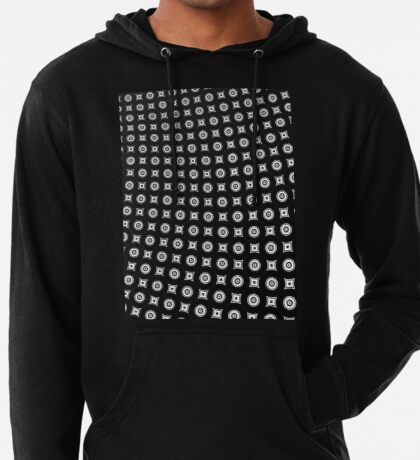 Monochrome Pattern 004 Lightweight Hoodie