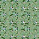 Vintage Florals - Green by SquibbleDesign