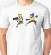 Fox and Falco StarFox Melee Design Unisex T-Shirt
