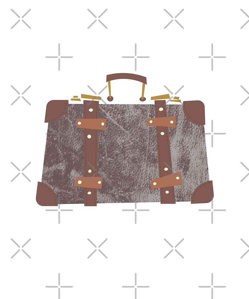 Vintage Leather Suitcase by designkitsch