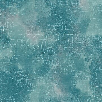Grunge Abstract Art in Turquoise and Sea Foam by MelFischer