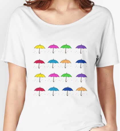 Colorful Umbrellas Women's Relaxed Fit T-Shirt