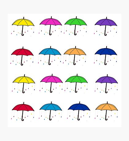 Colorful Umbrellas Photographic Print
