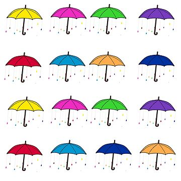 Colorful Umbrellas by DesignsByDebQ