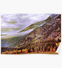 """Autumn Colors- Kootenay, British Columbia Poster"