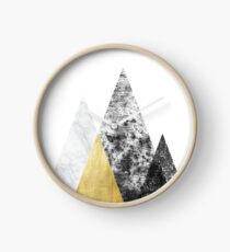 Reloj Grungy Marbled Mid Century Modern Mountain Graphic