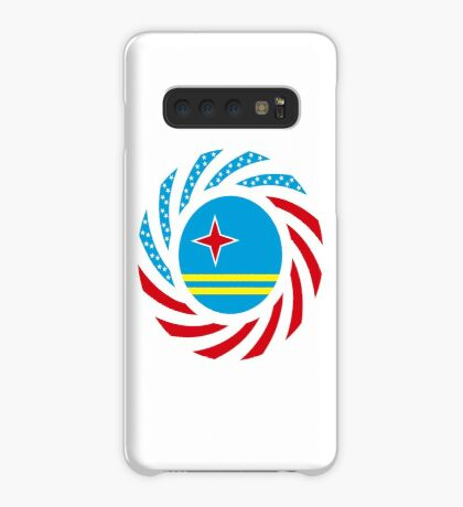 Aruban American Multinational Patriot Flag Series Case/Skin for Samsung Galaxy
