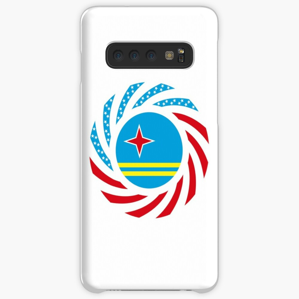 Aruban American Multinational Patriot Flag Series Case & Skin for Samsung Galaxy