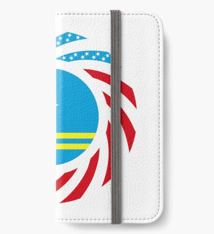 Aruban American Multinational Patriot Flag Series iPhone Wallet