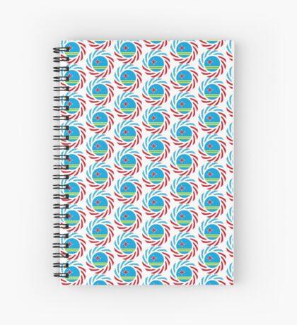 Aruban American Multinational Patriot Flag Series Spiral Notebook