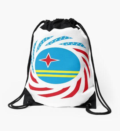 Aruban American Multinational Patriot Flag Series Drawstring Bag