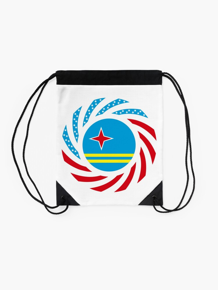 Alternate view of Aruban American Multinational Patriot Flag Series Drawstring Bag