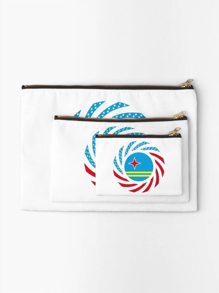 Alternate view of Aruban American Multinational Patriot Flag Series Zipper Pouch