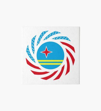 Aruban American Multinational Patriot Flag Series Art Board Print