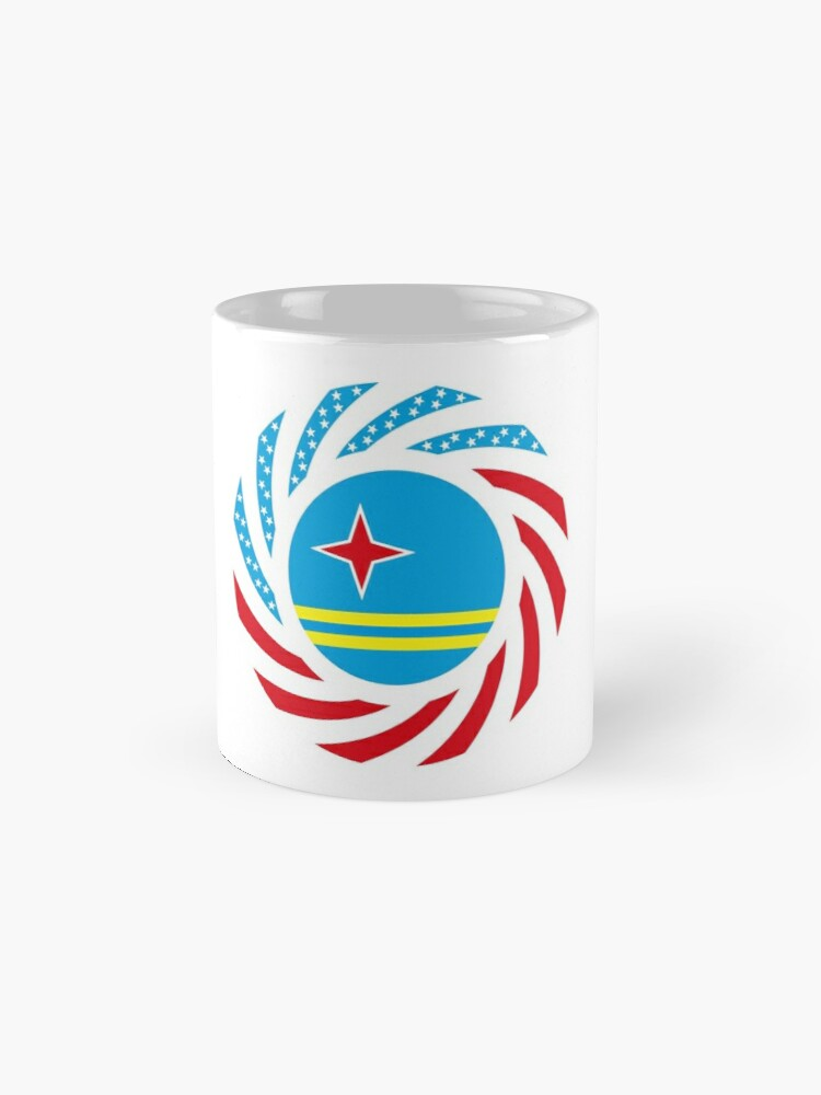 Alternate view of Aruban American Multinational Patriot Flag Series Mug