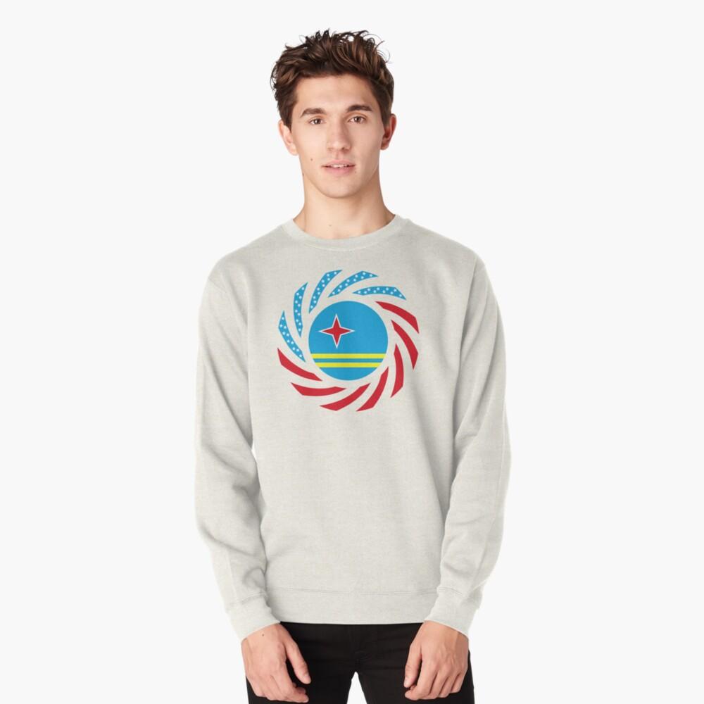 Aruban American Multinational Patriot Flag Series Pullover Sweatshirt