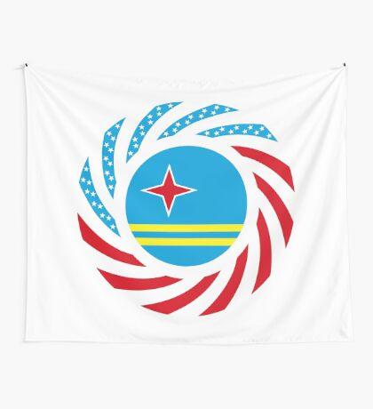 Aruban American Multinational Patriot Flag Series Wall Tapestry