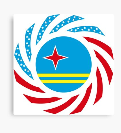 Aruban American Multinational Patriot Flag Series Canvas Print