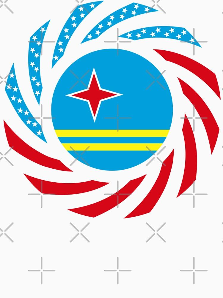 Aruban American Multinational Patriot Flag Series by carbonfibreme
