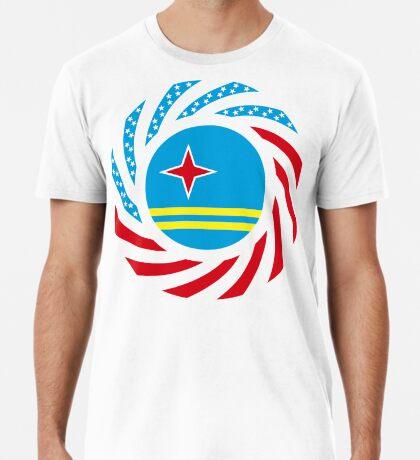 Aruban American Multinational Patriot Flag Series Premium T-Shirt